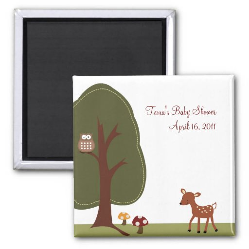 WOODLAND DEER Baby Shower Favor Magnet