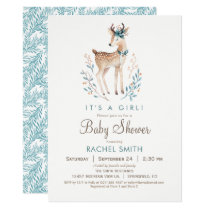 Woodland Deer Baby Shower Invitation