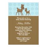 Woodland Deer Baby Shower Invitations Custom Invitation