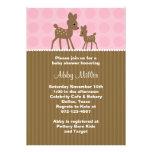 Woodland Deer Baby Shower Invitations Custom Invite