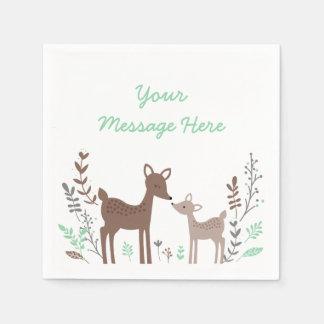 Woodland Deer Baby Shower Paper Napkin
