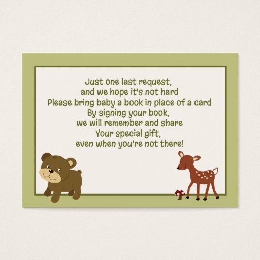 Woodland Deer / Bear Enclosure Book Request Cards