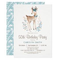 Woodland Deer Birthday Party Invitation