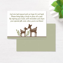 Woodland Deer Book Request Cards