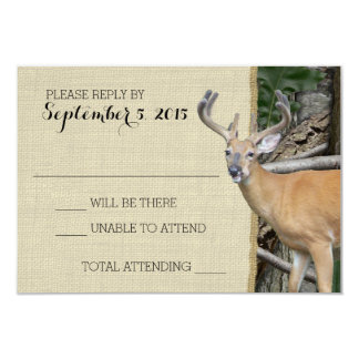 Woodland Deer Camo Response 3.5x5 Paper Invitation Card