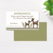 Woodland Deer Diaper Raffle Tickets