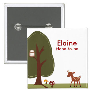 WOODLAND DEER FOREST Personalized Button