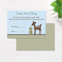 Woodland Deer Guess How Many Game Business Card