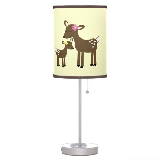 Woodland Deer Neutral Color Nursery Lamp