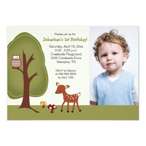Woodland Deer *PHOTO* Birthday 5x7 Card
