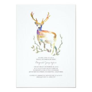 Woodland Deer Rustic Bridal Shower Card