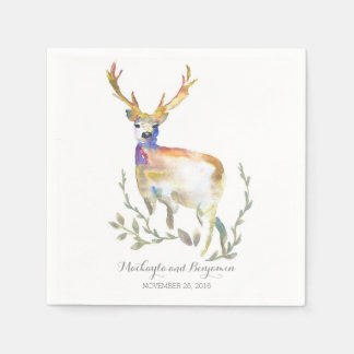 Woodland Deer Rustic Napkin