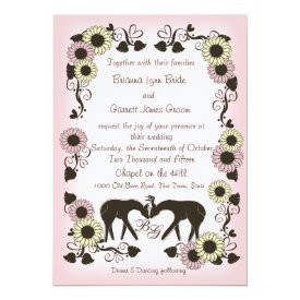 Woodland Deer Soft Pink Enchantment Wedding 5x7 Paper Invitation Card