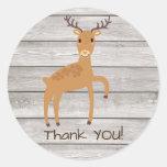 Woodland deer thank you Sticker