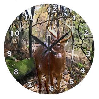 Woodland Deer Wall Clock