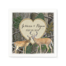 Woodland Deer with Heart Napkin