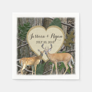Woodland Deer with Heart Disposable Napkin