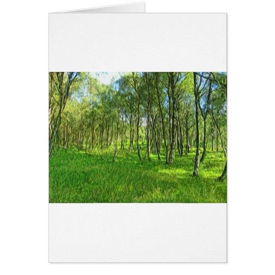 Woodland Derbyshire Card
