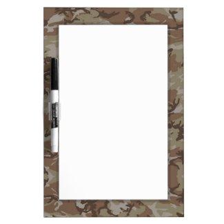 Woodland Desert Camouflage Background Dry Erase Board