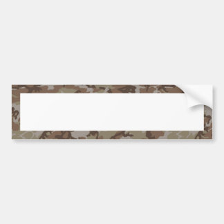 Woodland Desert Camouflage (with White) Bumper Sticker