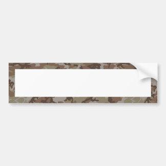 Woodland Desert Camouflage (with White) Car Bumper Sticker