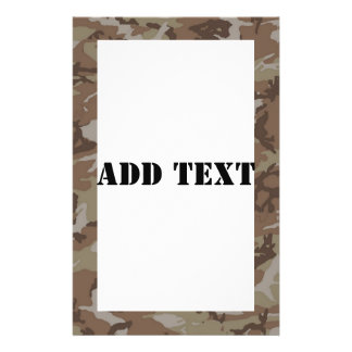 Woodland Desert Camouflage (with White) Custom Flyer