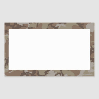 Woodland Desert Camouflage (with White) Rectangular Sticker