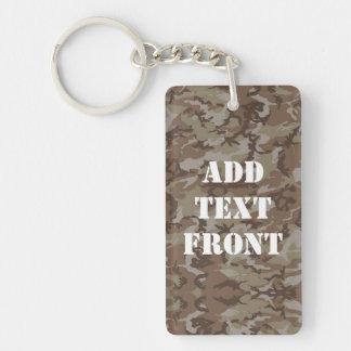 Woodland Desert Military Camouflage Keychain