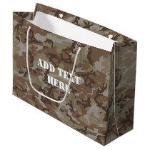 Woodland Desert Military Camouflage Large Gift Bag