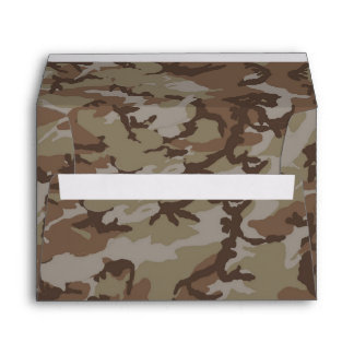 Woodland Desert Military Camouflage Pattern Envelope
