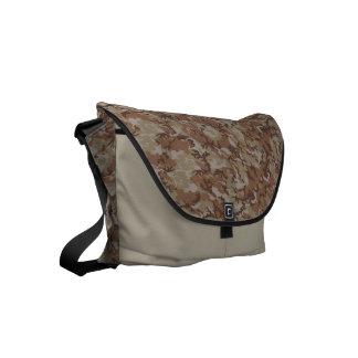 Woodland Desert Military Camouflage Pattern Small Messenger Bag