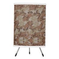 Woodland Desert Military Camouflage Pattern Tripod Lamp