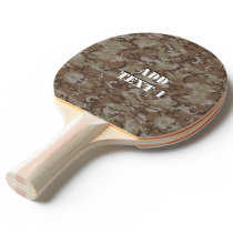 Woodland Desert Military Camouflage Ping-Pong Paddle