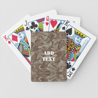 Woodland Desert MilitaryCamouflage Bicycle Playing Cards