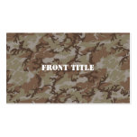 Woodland Desert MilitaryCamouflage Double-Sided Standard Business Cards (Pack Of 100)