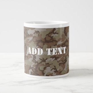 Woodland Desert MilitaryCamouflage Large Coffee Mug