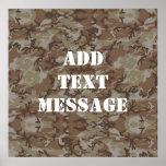 Woodland Desert MilitaryCamouflage Poster