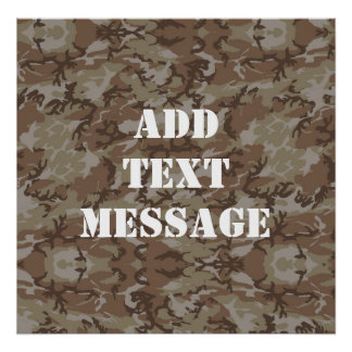 Woodland Desert MilitaryCamouflage Poster