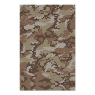 Woodland Desert MilitaryCamouflage Stationery