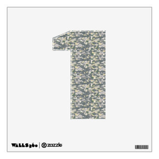 Woodland Digital Camo Wall Decal Number One-Small