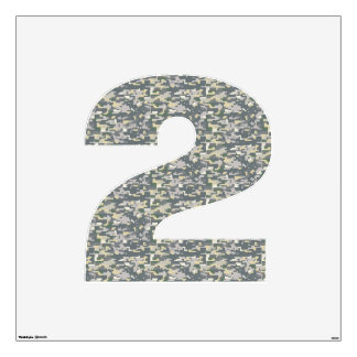 Woodland Digital Camo Wall Decal Number Two-Large