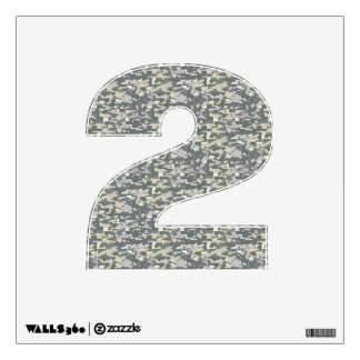Woodland Digital Camo Wall Decal Number Two-Small