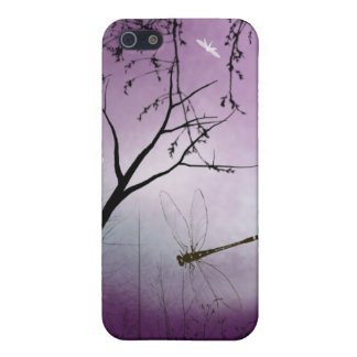Woodland dragonflies purple evening iPhone case