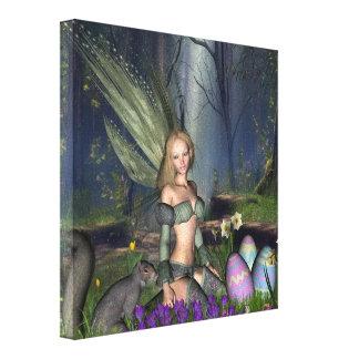 Woodland Easter Egg Fairy Canvas Print