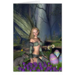 Woodland Easter Egg Fairy Greeting Card
