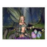 Woodland Easter Egg Fairy Postcard
