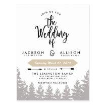 Woodland Escape Wedding Invite