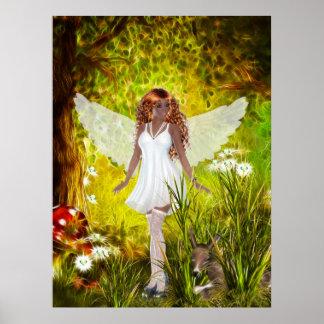 Woodland  Faerie Secret Garden Posters