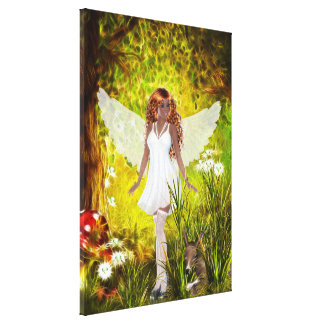 Woodland Faerie Secret Garden Wrapped Canvas Gallery Wrapped Canvas