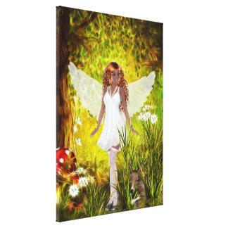Woodland Faerie Secret Garden Wrapped Canvas Canvas Print